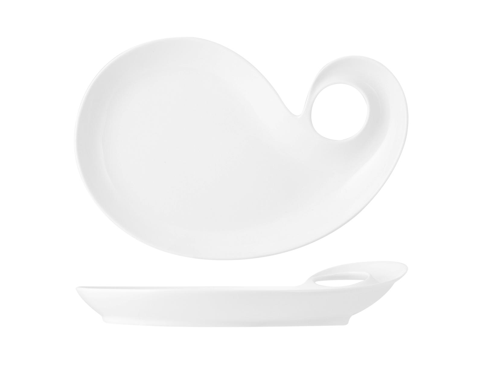 Acquista Piatto Porcellana Goccia Cm24 17527918 | Glooke.com