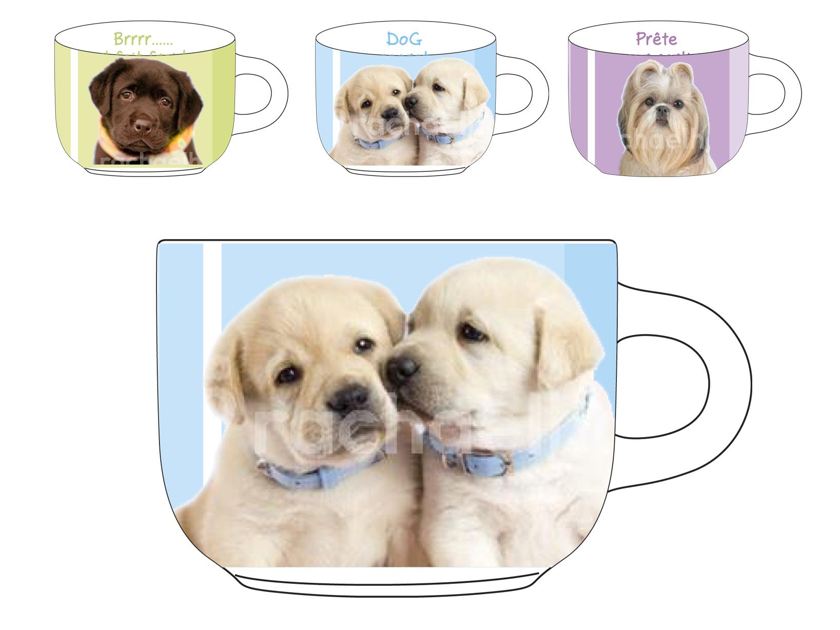 Acquista Set 12 Tazze T Porcellana Dogs 17528047 | Glooke.com