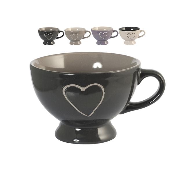 Acquista Set 6 Tazze Cuore 350 Cc Stoneware 17528081 | Glooke.com