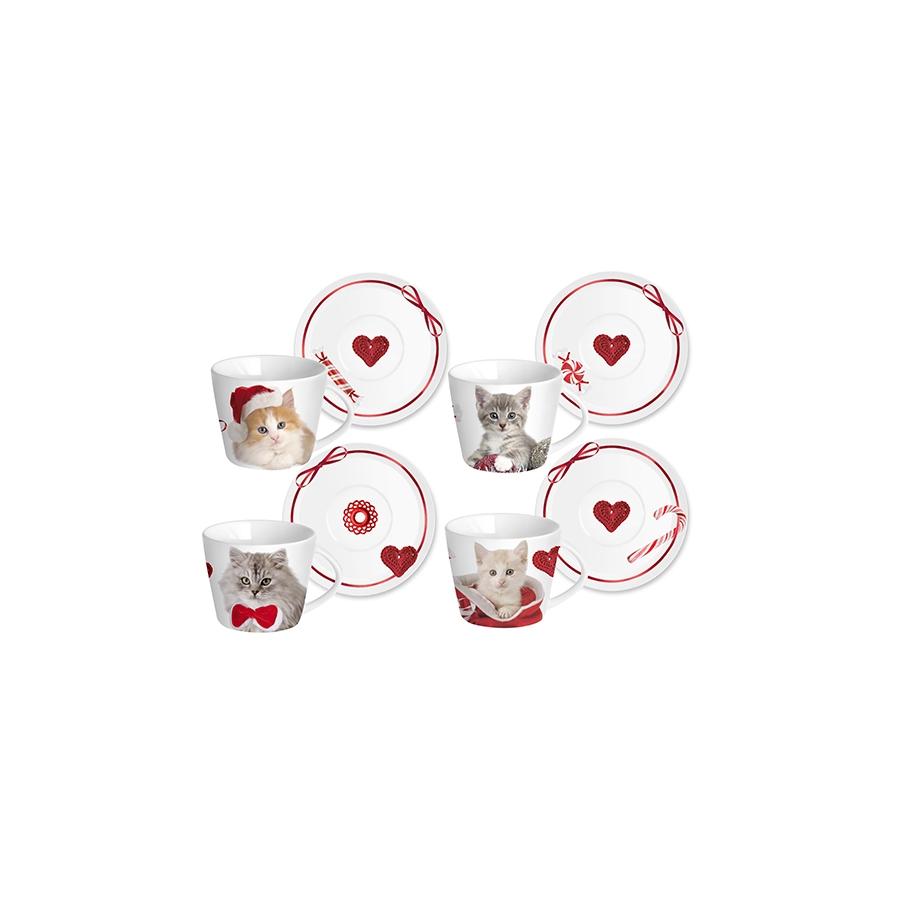 Acquista Confezione 4 T Porcellana Cats 17528088 | Glooke.com