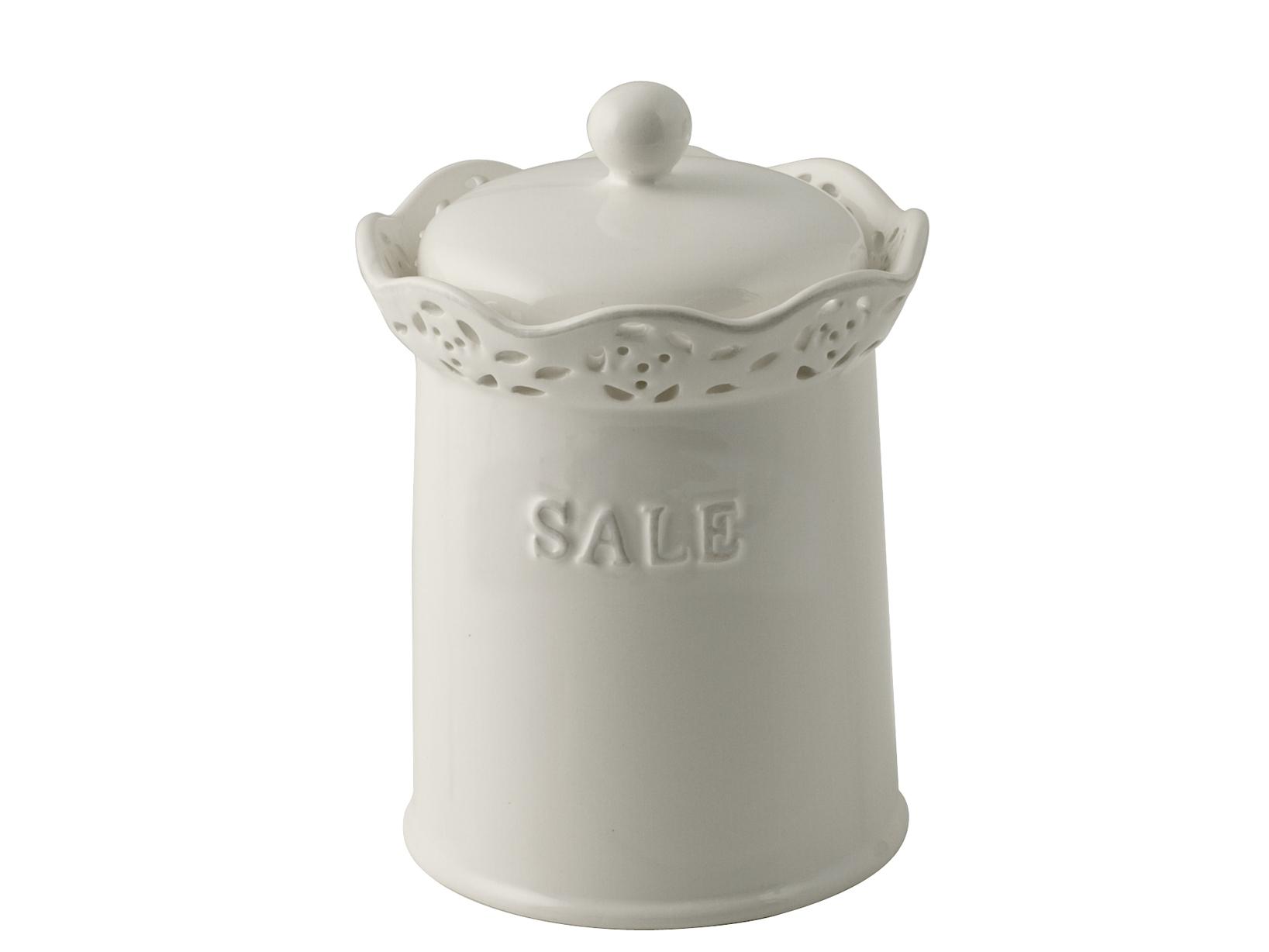 Acquista Barattolo Ceramica Tondo Sale 17528097 | Glooke.com