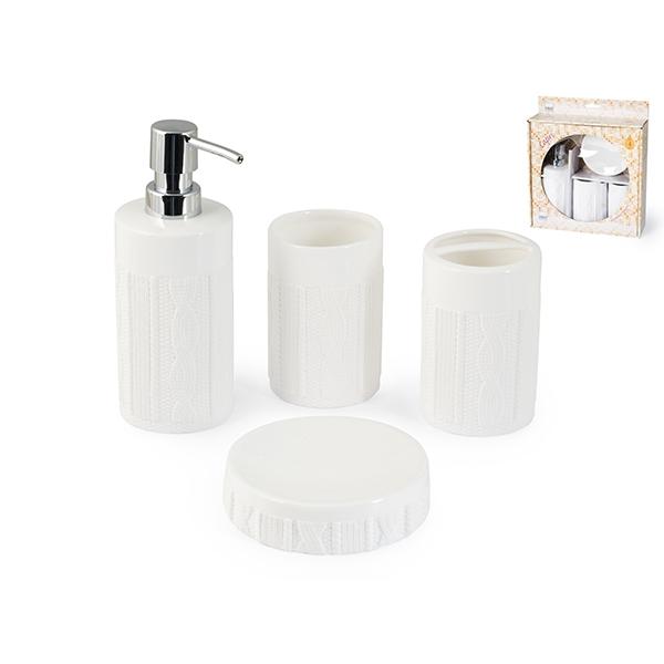 Acquista Da Bagno 4 Pezzi Ceramica Capri 17528125 | Glooke.com