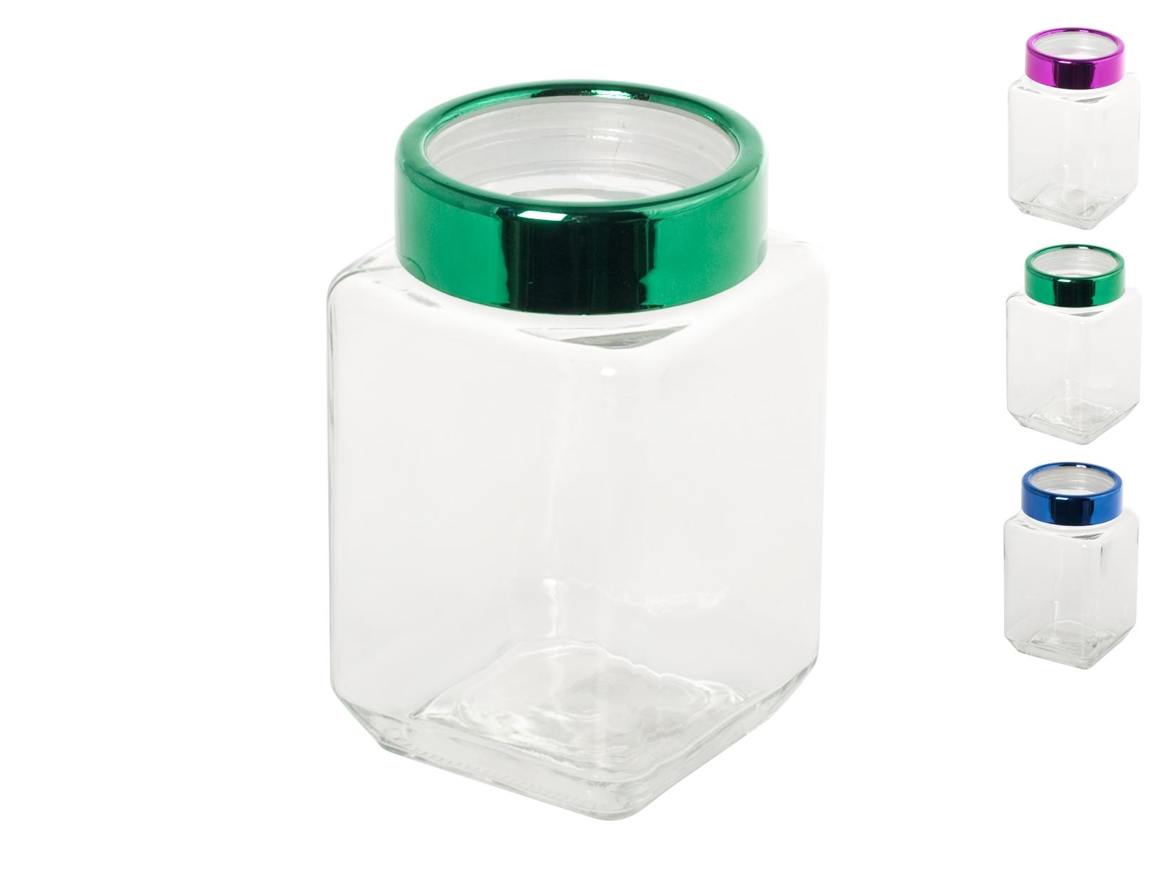 Acquista Set 6 Barattoli Vetro Quadrato 17528291 | Glooke.com