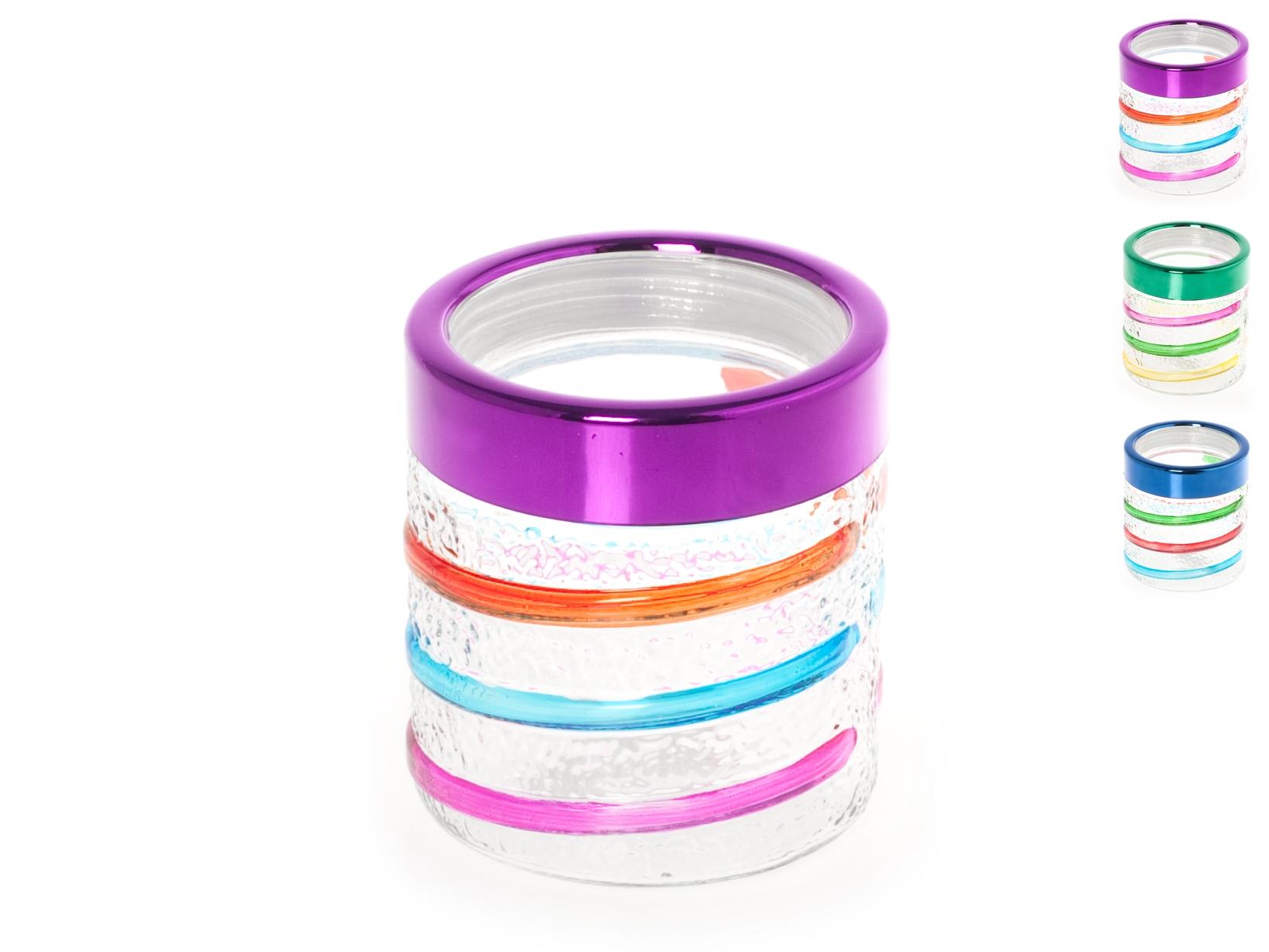 Acquista Set 6 Barattoli Vetro Tondo Colori 17528293 | Glooke.com