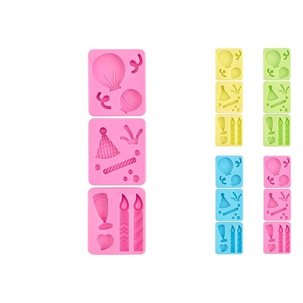 Acquista Confezione 3 Stampi Silicone Pastel 17528367 | Glooke.com