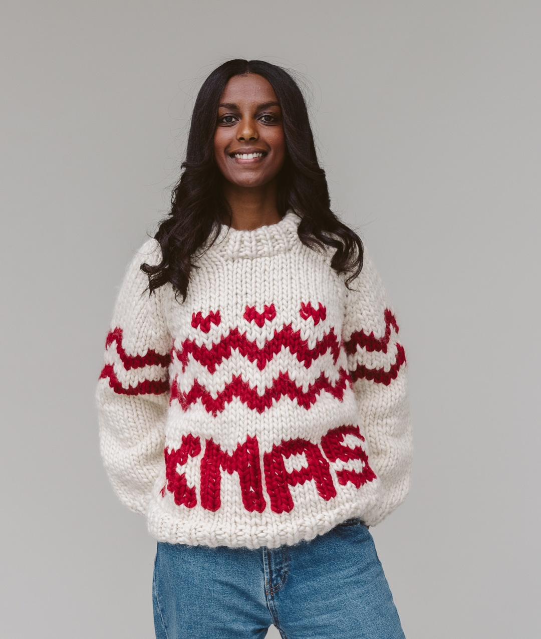 Sweaters and Tops - Wool - MERRY XMAS JUMPER - FOR HER  - 1
