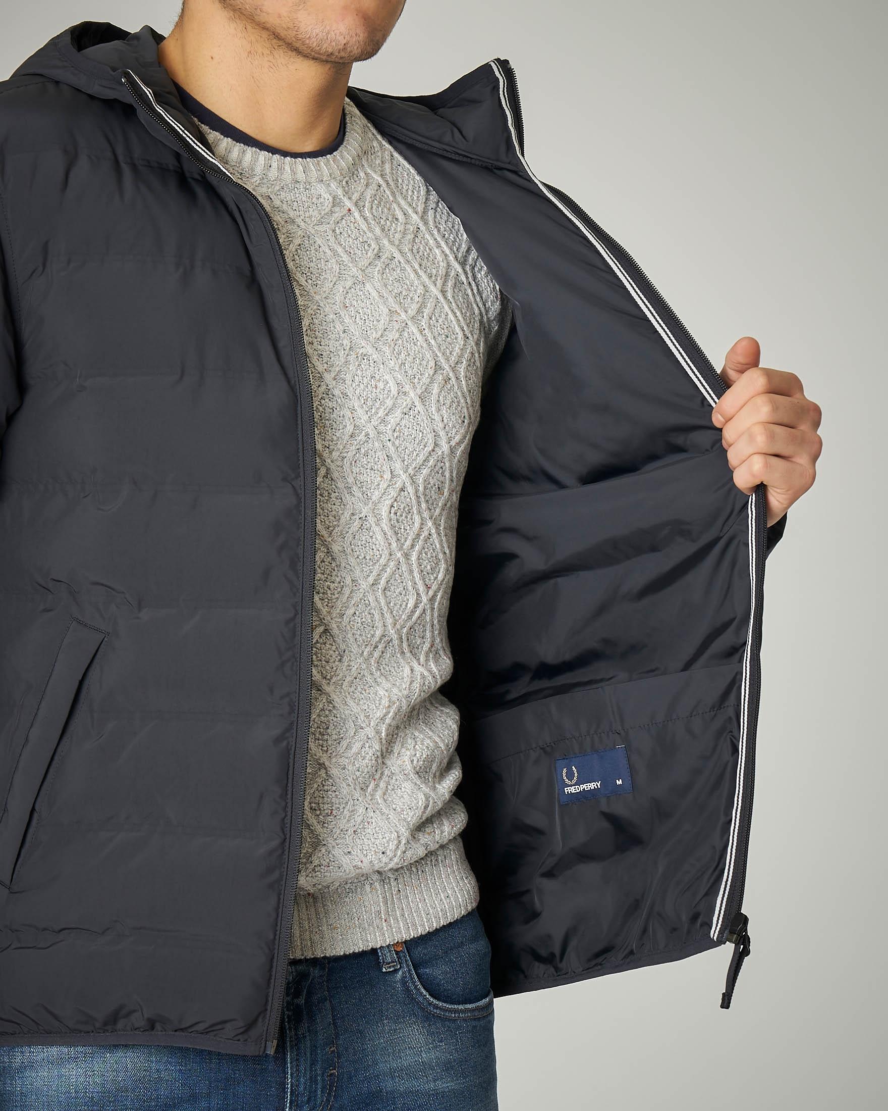 new style 53e20 f7b4d Piumino grigio scuro con cappuccio | Pellizzari E-commerce