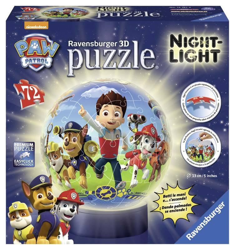 Acquista Puzzleball Lampada Paw Patrol 17596796 | Glooke.com