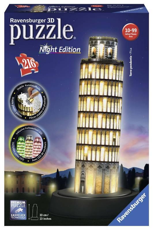 Acquista Puzzle 3d Torre Pisa Night Edition 17596788 | Glooke.com