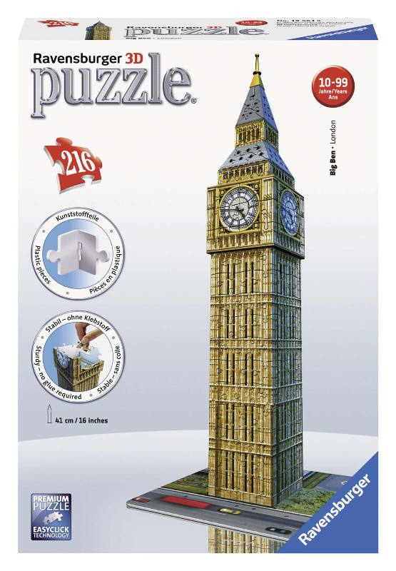 Acquista Puzzle 3d Big Ben Puzzeleball 17596775 | Glooke.com