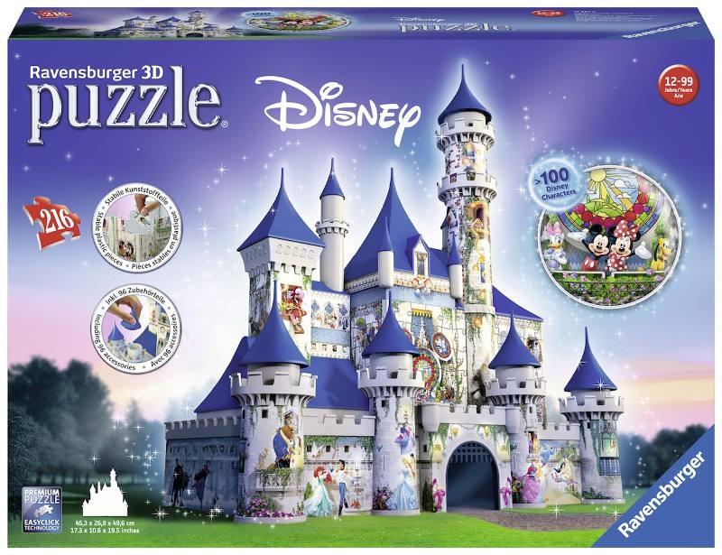 Acquista Puzzle 3d Disney Fantasy Castle 17596756 | Glooke.com