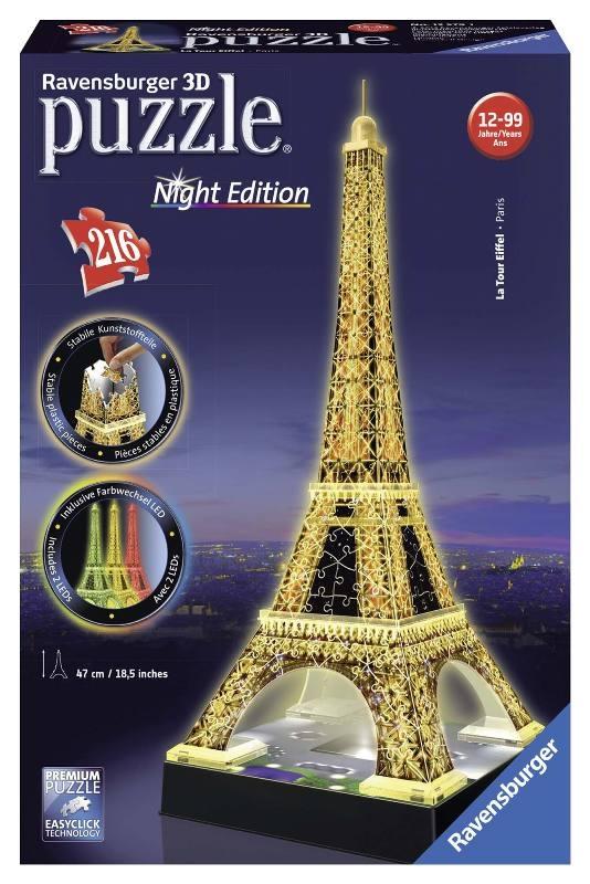 Acquista Puzzle 3d Tour Eiffel Night Edition 17596762 | Glooke.com