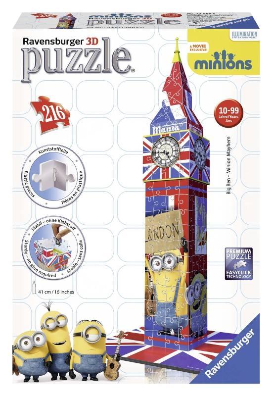 Acquista Puzzle 3d Big Ben Minions Puzzeleball 17596754 | Glooke.com