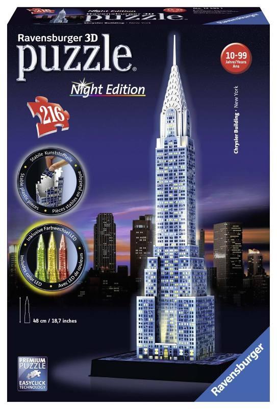 Acquista Puzzle 3d Chrysler Building Night 17596753 | Glooke.com