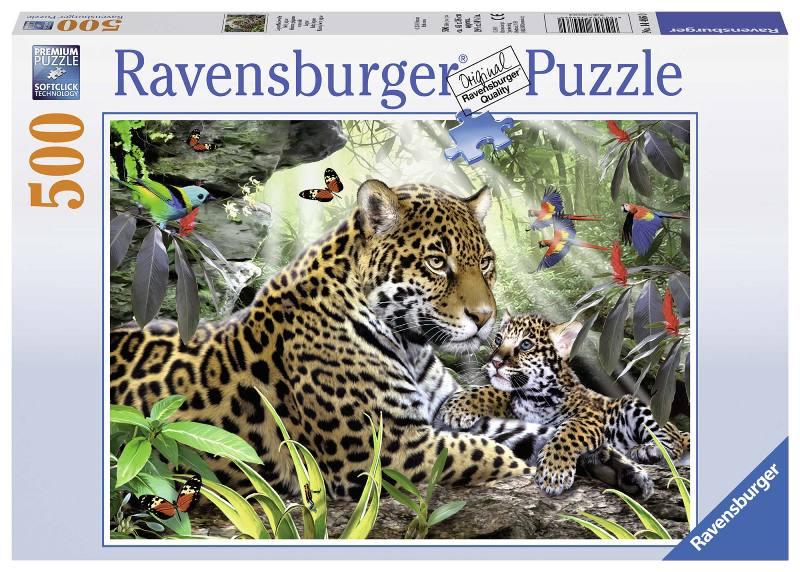 Acquista Puzzle 500 Pezzi Giaguari Puzzle 17596694 | Glooke.com