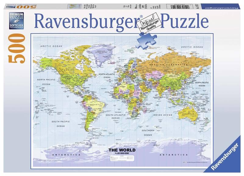 Acquista Puzzle 500 Pezzi Cartina Politica 17596681 | Glooke.com