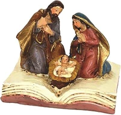 Natività su libro in resina cm. 4,5