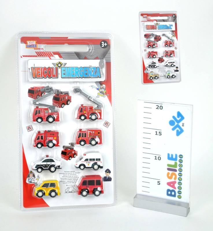 Acquista Bivalva 8 Mini Mezzi Polizia Pompieri 17588367 | Glooke.com