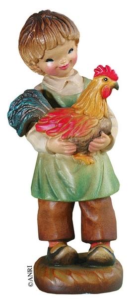 Pastore con gallo Anri Ferrandiz cm. 7,5
