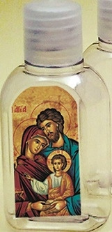 Bottiglietta plastica 50 ml. (1000 pz) Sacra Famiglia