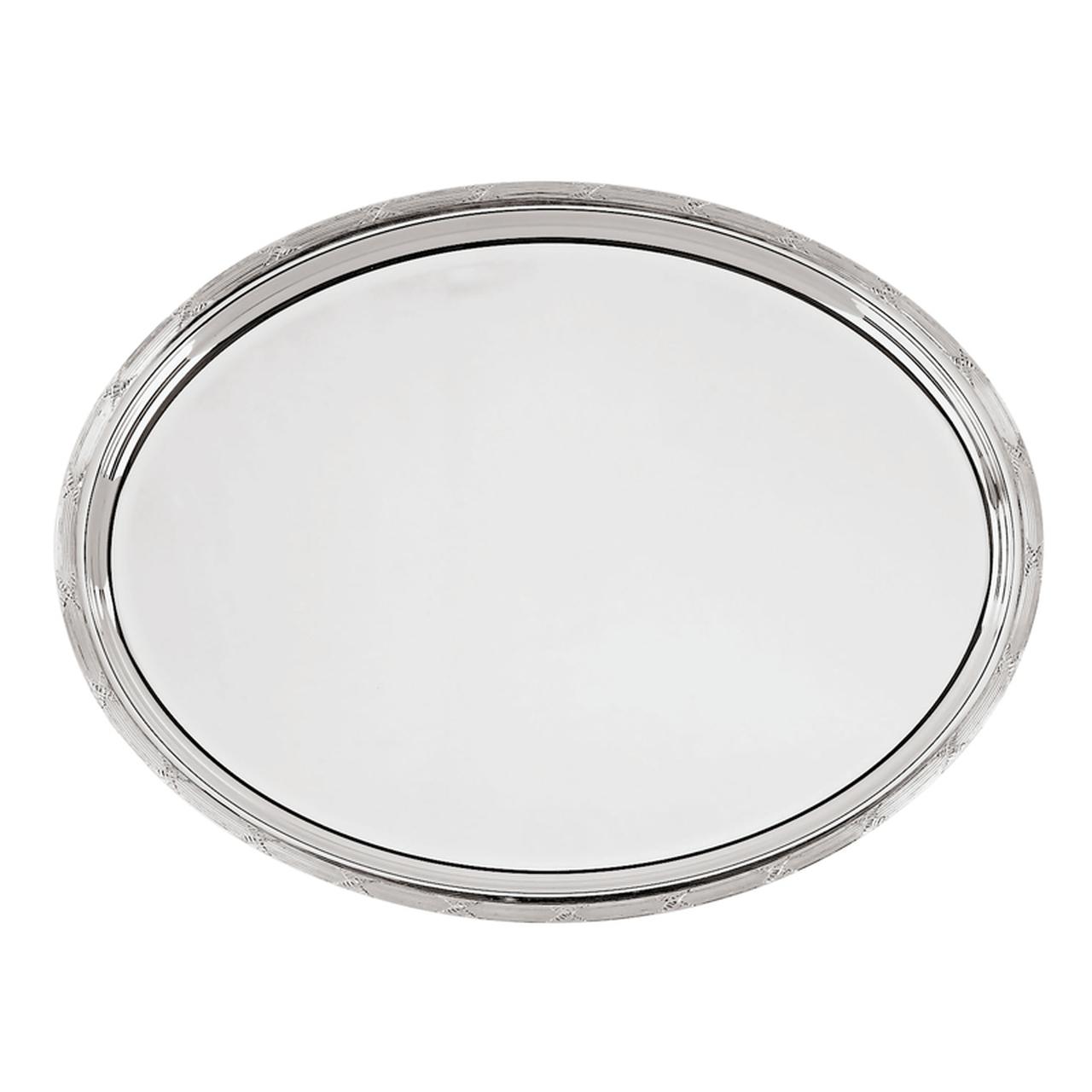 Vassoio ovale argentato argento sheffield stile Rubans