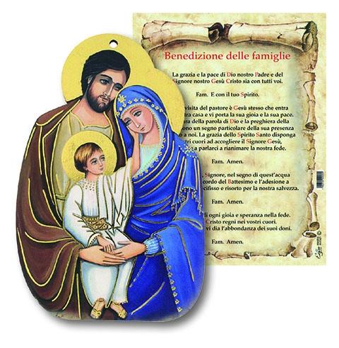 Tavoletta Sacra Famiglia con benedizione Famiglia