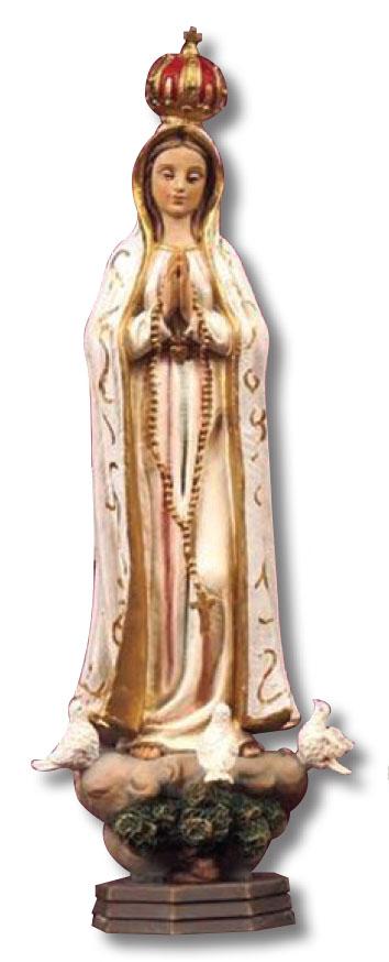 Statua Madonna Fatima cm. 12