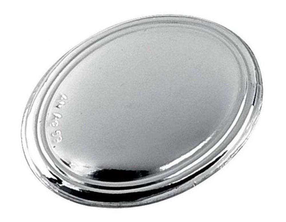 Blasone placca ovale in argento cm.5,1x4,3x0,3h