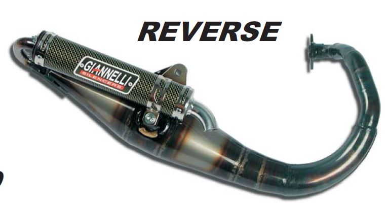 Marmitta Giannelli reverse per scooter minarelli-yamaha verticale booster