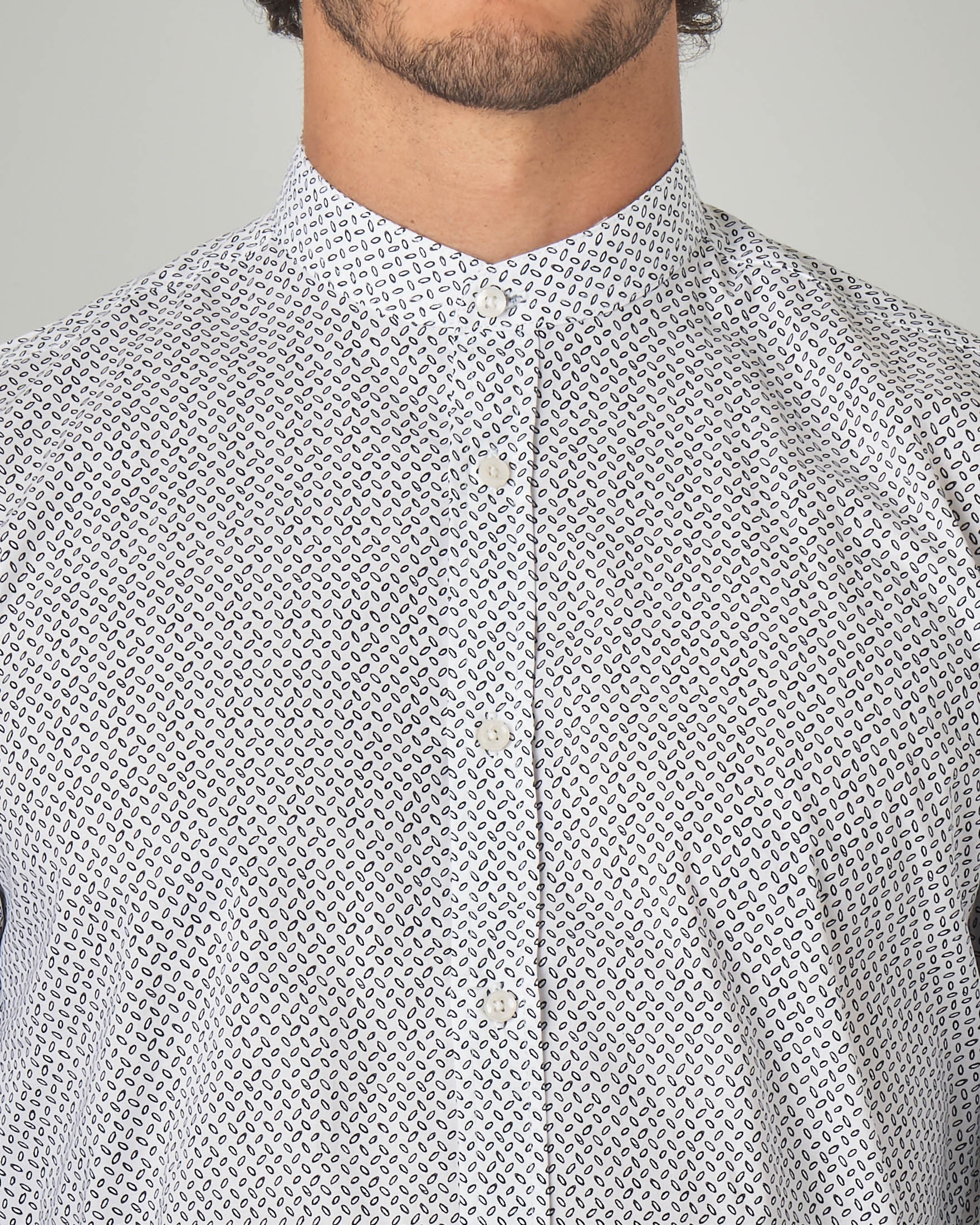 super popular 75d0d 8ea3e Camicia bianca coreana micro-fantasia | Pellizzari E-commerce