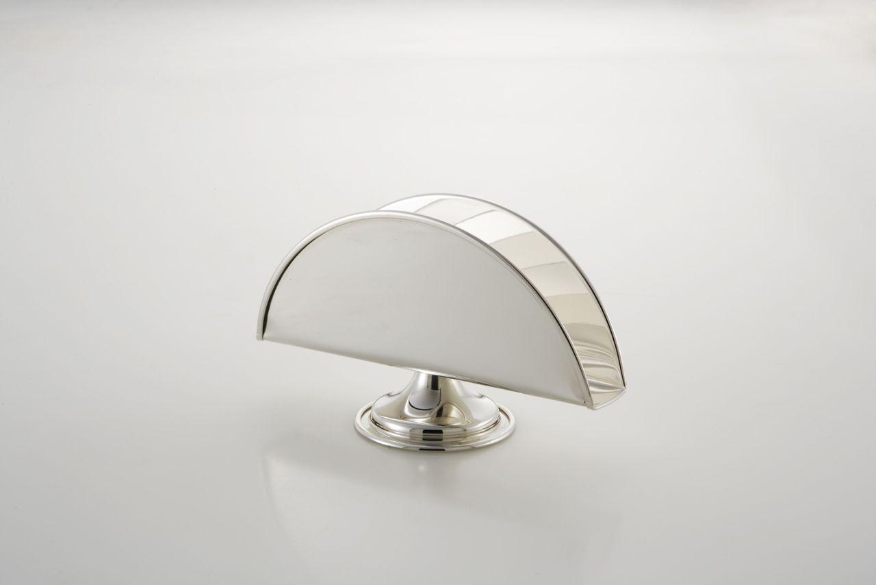 Portasalviette con base placcato argento stile Inglese