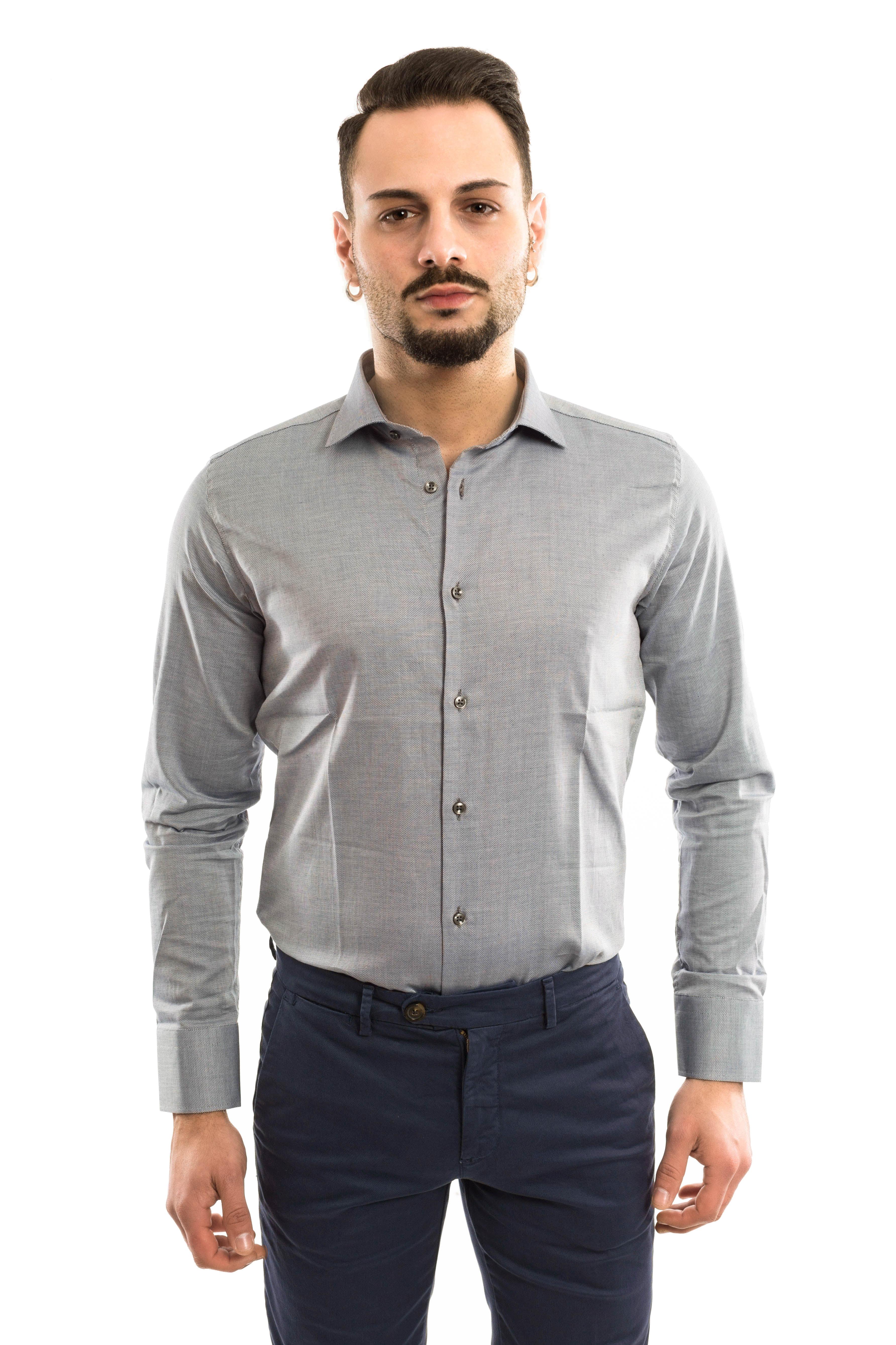 Camicia Piquet slimfit - colore Grey