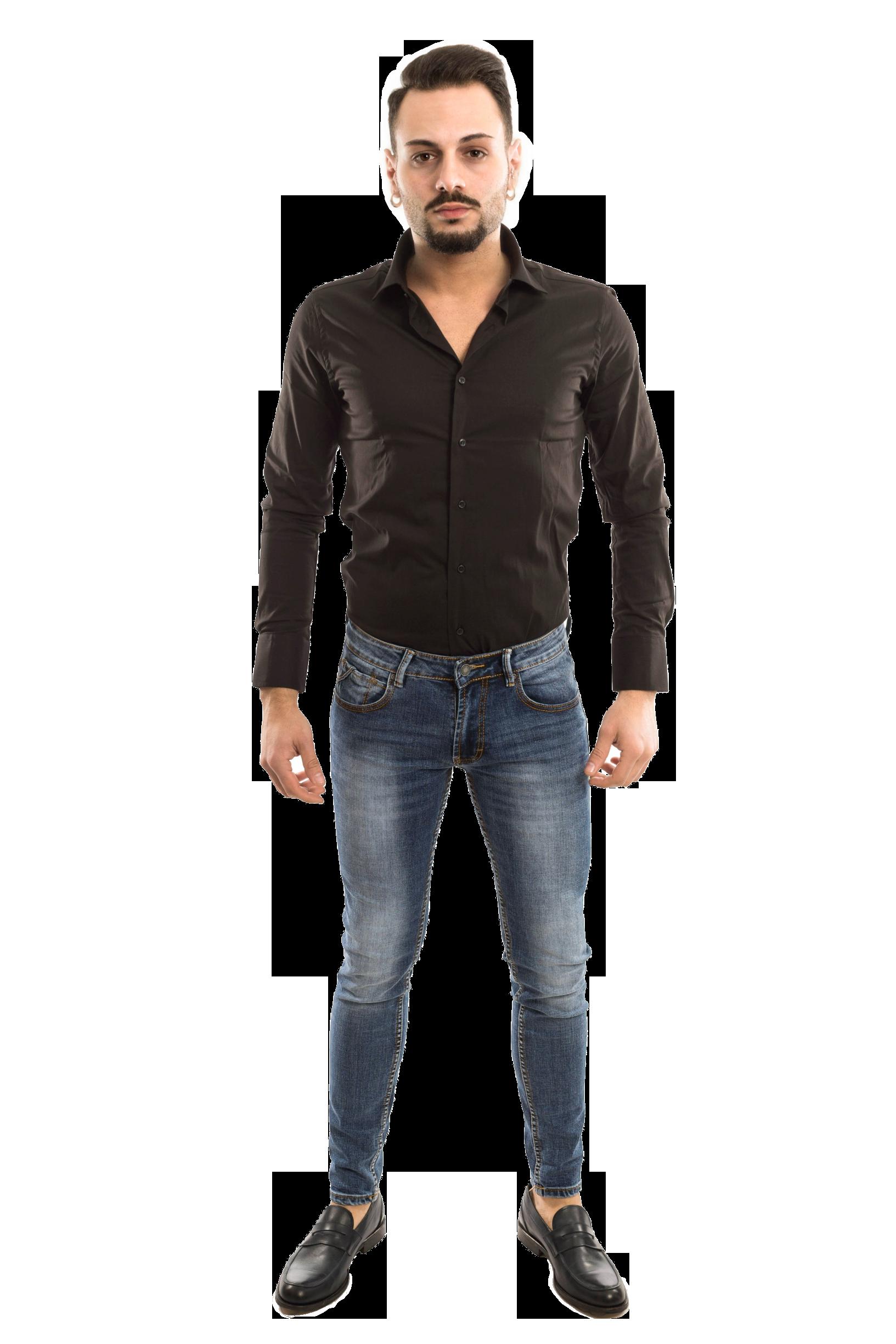 Camicia Basic slimfit - colore Nero