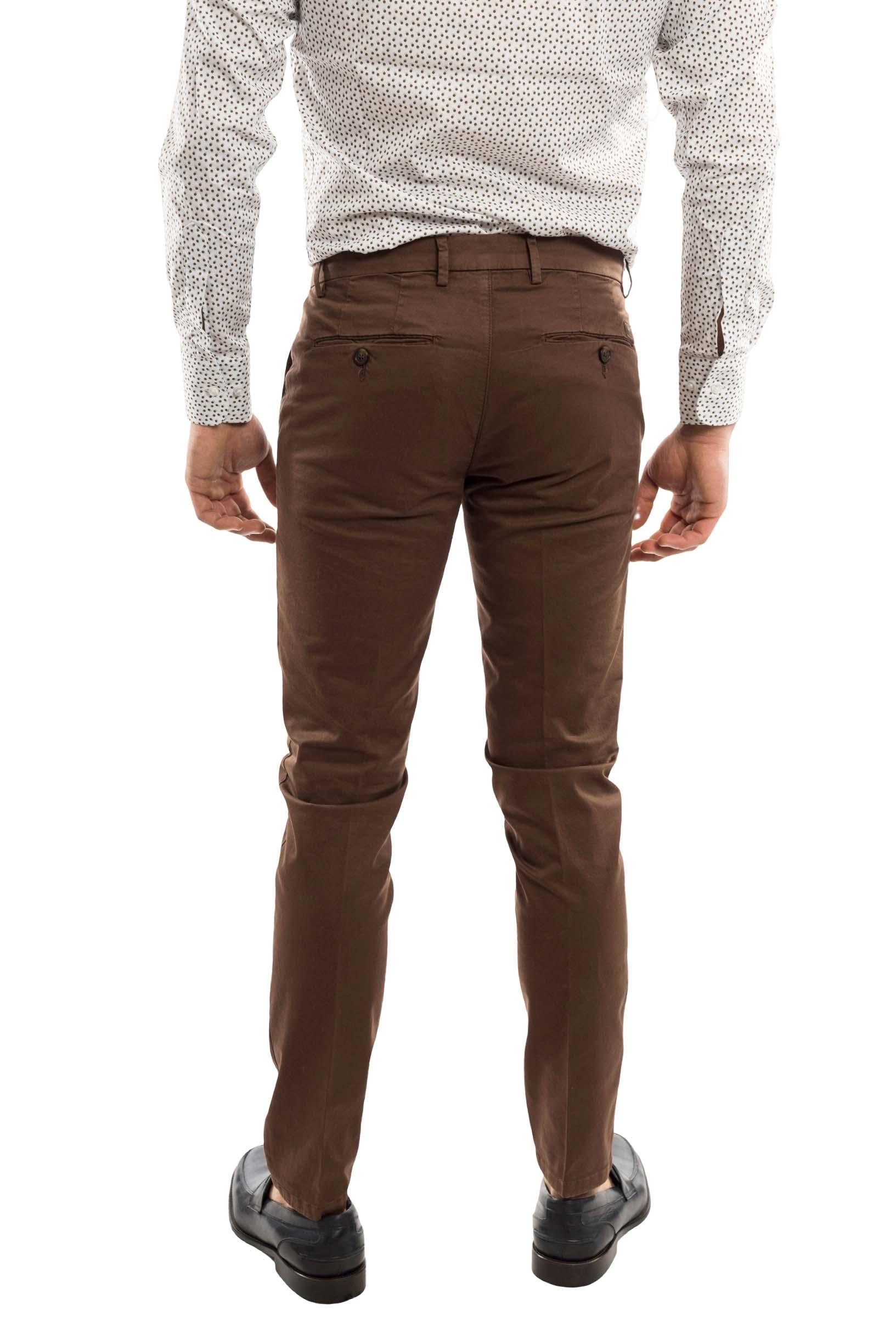 Pantalone slimfit Cotonato - colore Cacao