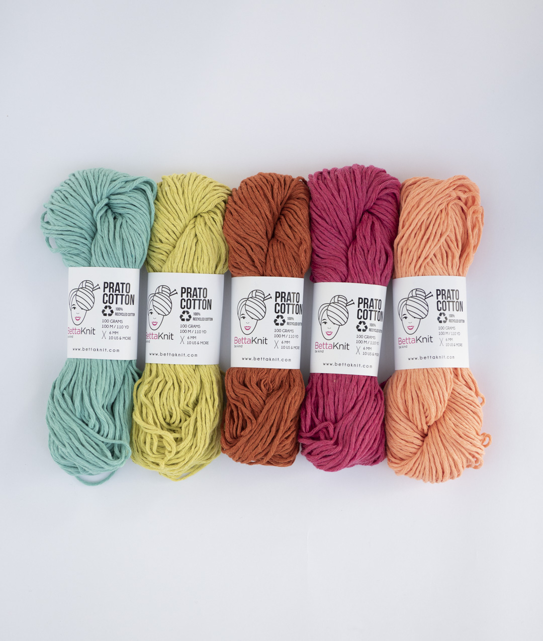 Packs of Skeins -  - Prato Cotton Pack - 5 balls - 1