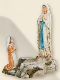 Apparizione Lourdes resina cm. 10
