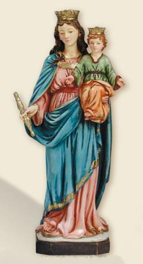 Madonna Ausiliatrice  in resina cm. 30