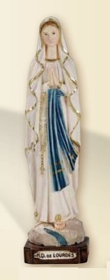 Madonna di Lourdes in resina cm. 25