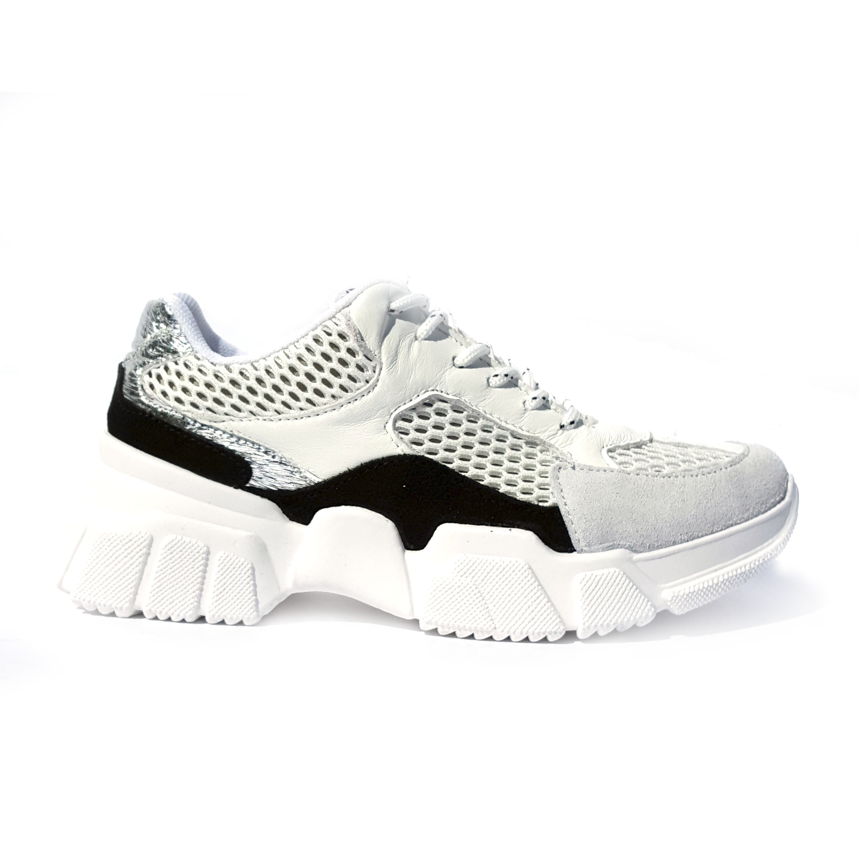 Chunky sneaker bianco/nera In My Shoes
