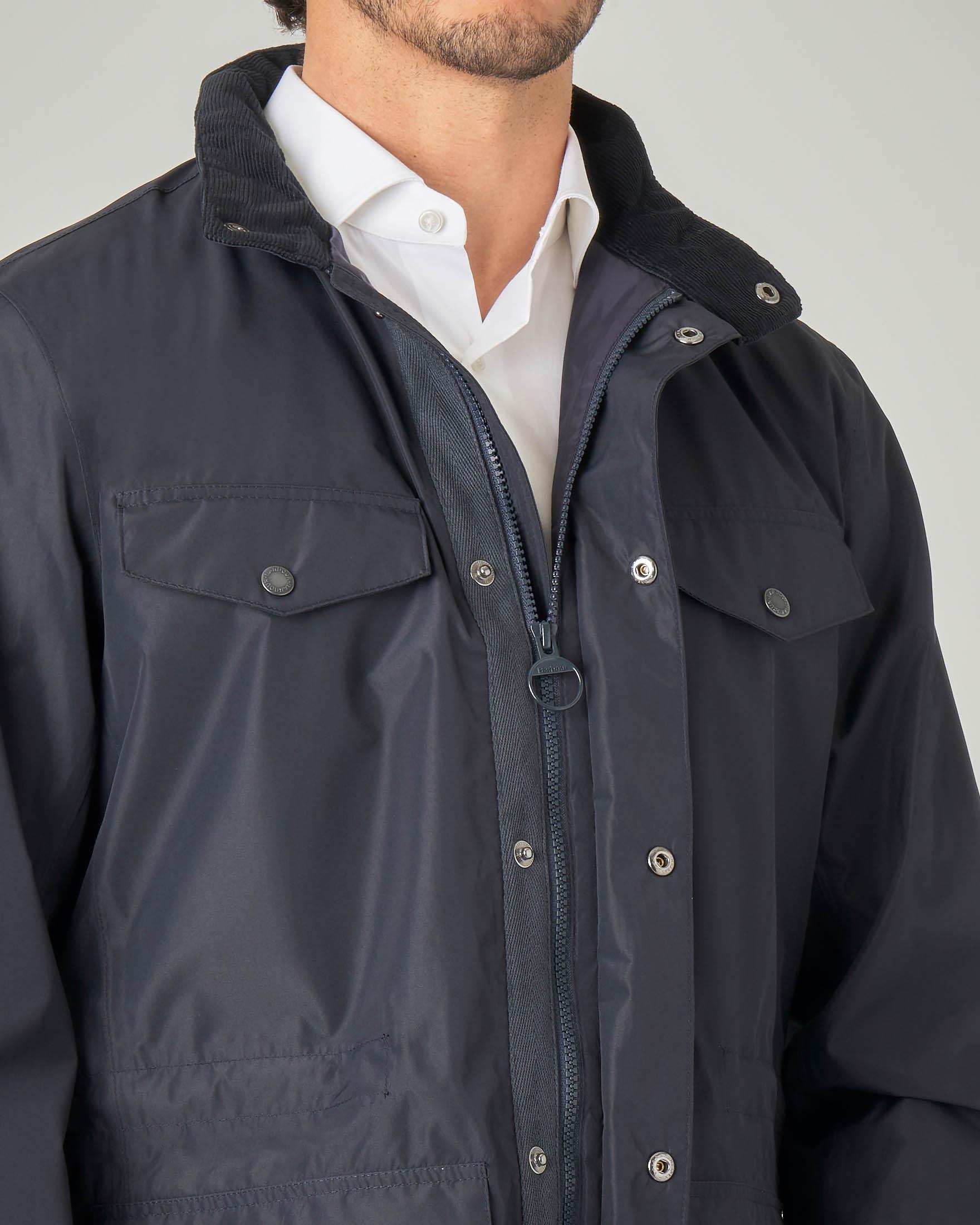 Barbour field Jacket Blu