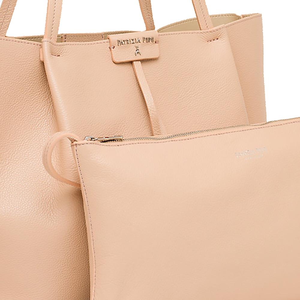 Borsa shopping grande in pelle colore camel beige - PATRIZIA PEPE