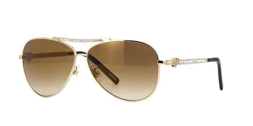 Chopard - Occhiale da Sole Donna, Rose Gold/Brown Gold Mirror Shaded (300G), SCHB58S 59/11/130