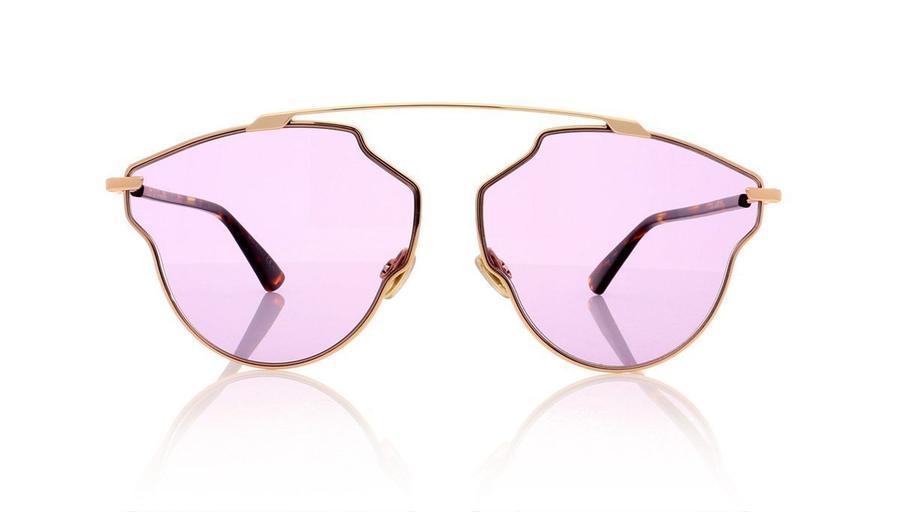 Christian Dior - Occhiale da Sole Donna, Dior So Real Pop, Copper Gold Dark Havana/Violet DDB