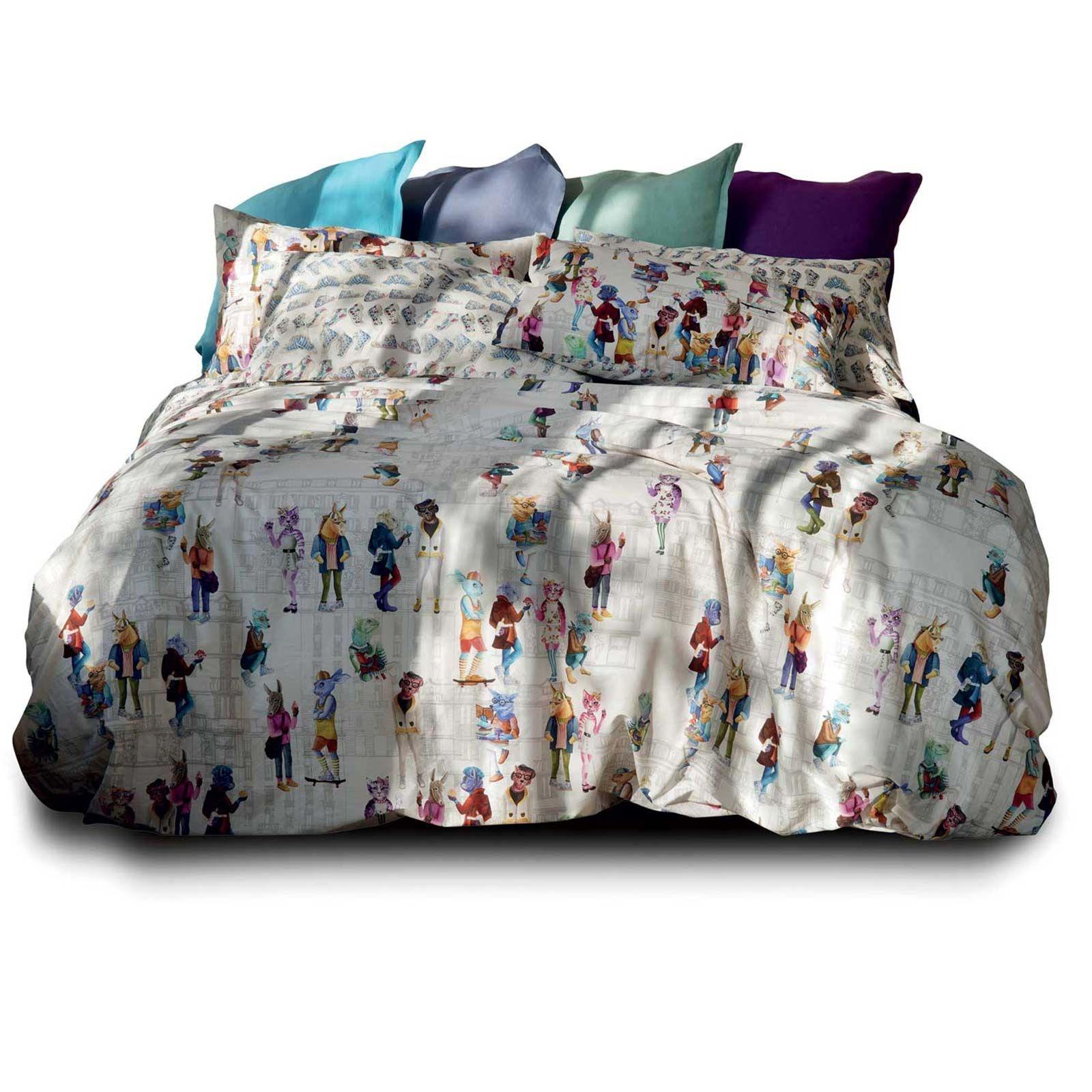Copripiumino Matrimoniale Star Wars.Set Double Bed Sheets 2 Squares Pip Studio Darjeeling Bluette Effect