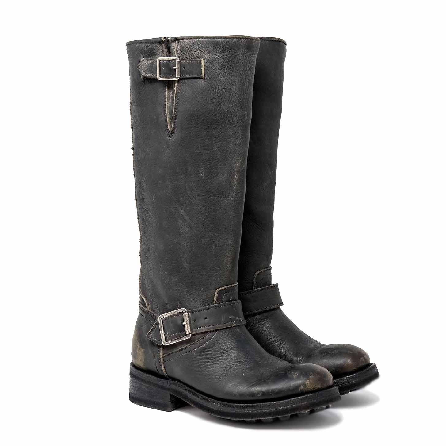 Biker Tank Sw Antic Silver Studs Black – ASH Mexican boots
