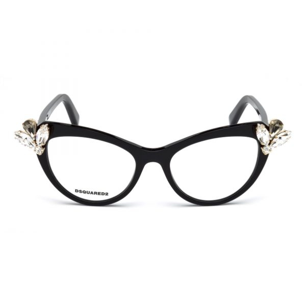 Dsquared2 - Occhiale da Vista Donna, Dsquared2 DQ, Black 5213 C53 001