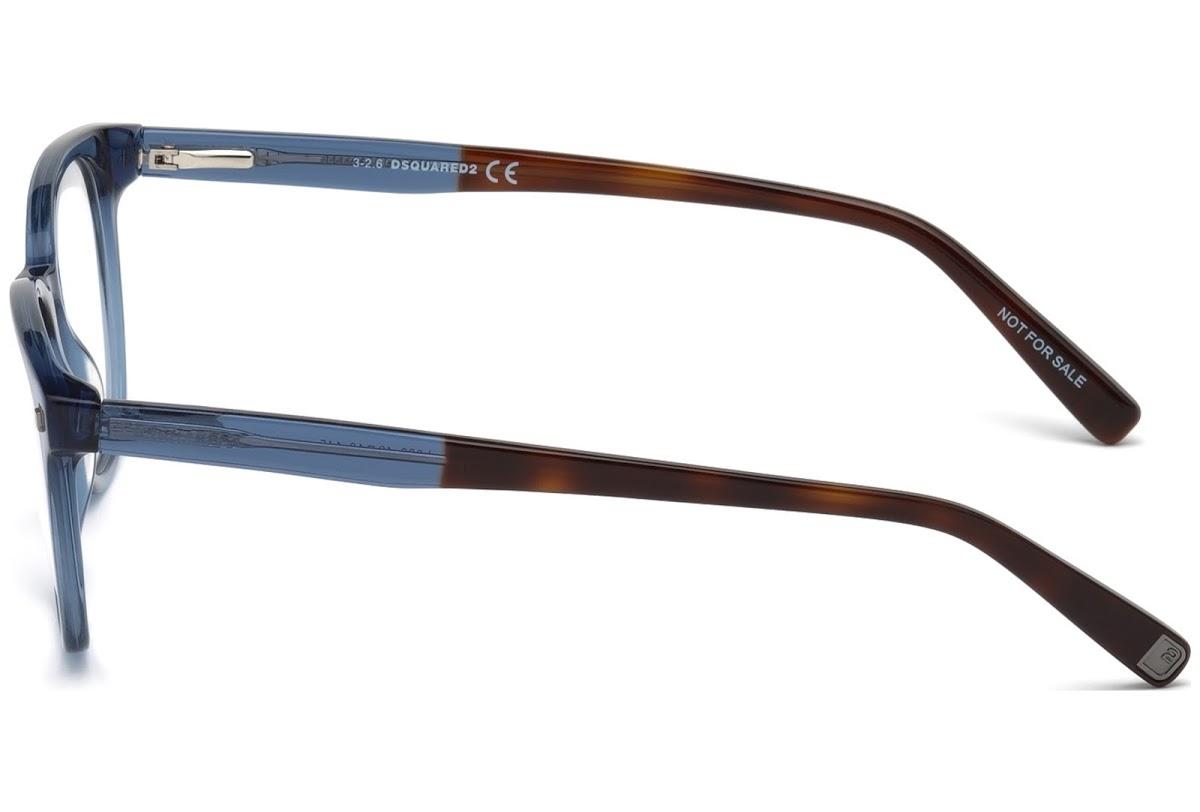 Dsquared2 - Occhiale da Vista Unisex, Dsquared2 DQ, Shiny Blue 5228 C49 090