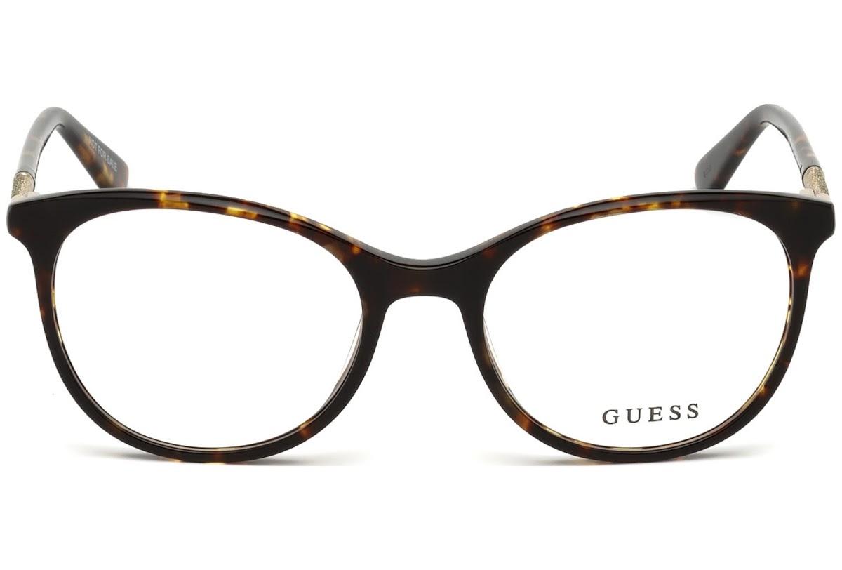 Guess - Occhiale da Vista Donna, Dark Havana GU 2657 052 C52