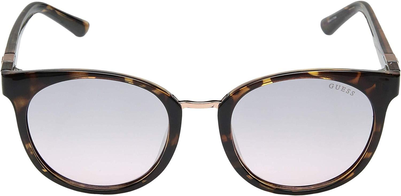 Guess - Occhiale da Sole Donna, Dark Havana/Pink Shaded GU 7601 52U C52