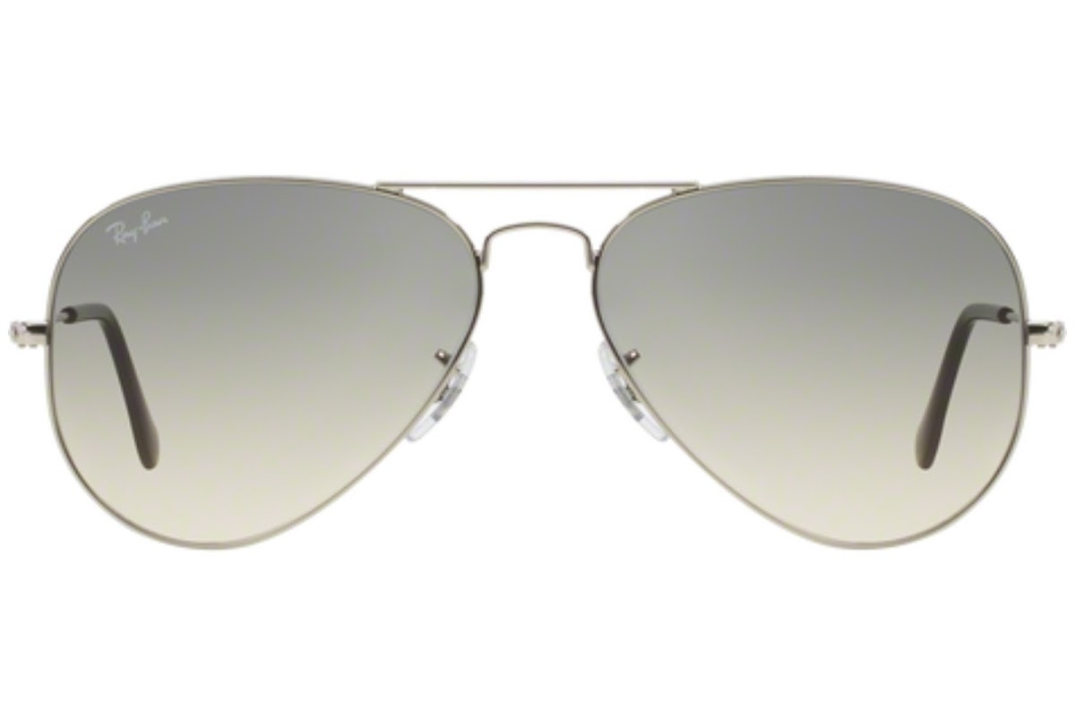 Ray Ban - Occhiale da Sole Unisex, Aviator Large Metal, Silver/Gradient Grey RB3025 003/32 C58